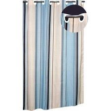EZ On Stripes B Polyester Shower Curtain