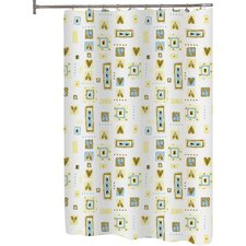 <strong>Carnation Home Fashions</strong> Patty Polyester Shower Curtain