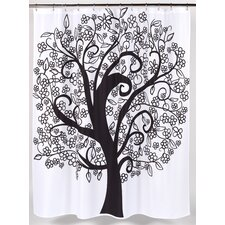 <strong>Carnation Home Fashions</strong> Tree of Life Polyester Shower Curtain
