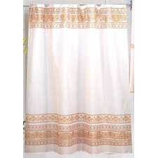 <strong>Carnation Home Fashions</strong> Fleur Polyester Fabric Shower Curtain