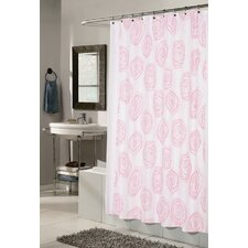 <strong>Carnation Home Fashions</strong> Lucerne Polyester Fabric Shower Curtain with Flocking