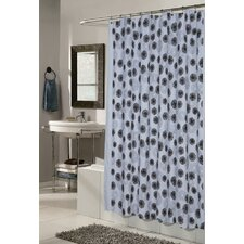 Vienna Polyester Fabric Shower Curtain with Flocking