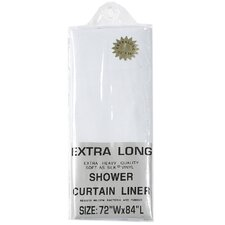 Extra Long 5 Gauge Vinyl Shower Curtain Liner with Metal Grommets