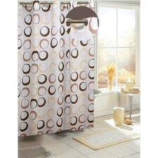 EZ On Circles Fabric Shower Curtain