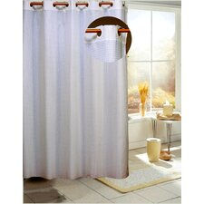 Ez On Checks Fabric Shower Curtain