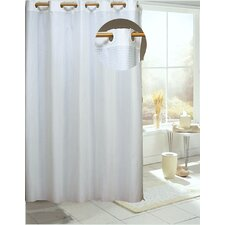 <strong>Carnation Home Fashions</strong> EZ On Check Polyester Shower Curtain