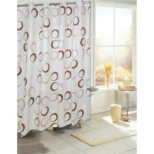<strong>Carnation Home Fashions</strong> EZ On Circles EVA Shower Curtain
