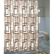 Lexington Extra Wide Polyester Fabric Shower Curtain