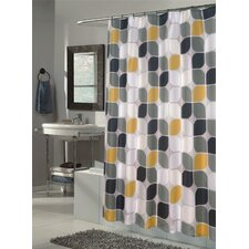 Metro Extra Long Polyester Fabric Shower Curtain