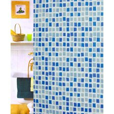 <strong>Carnation Home Fashions</strong> Mosaic Vinyl Shower Curtain