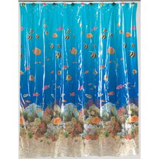 Sealife Vinyl Shower Curtain