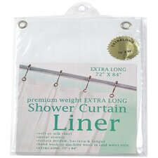 Extra Long Heavy Gauge Vinyl Shower Curtain / Liner