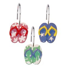 Flip Flops Shower Curtain Hooks (Set of 12)