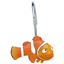 Gold Fish Shower Curtain Hooks (Set of 12)