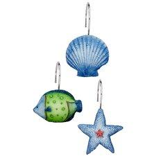 Oceanic Shower Curtain Hooks (Set of 12)