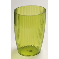 Acrylic Ribbed Waste Basket