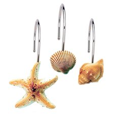Scuba Jewels Shower Curtain Hooks (Set of 12)