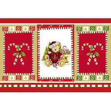Christmas Bear Expanded Foam Vinyl Placemat (Set of 4)