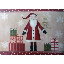 <strong>Carnation Home Fashions</strong> Saint Nick Expanded Foam Vinyl Placemat (Set of 4)
