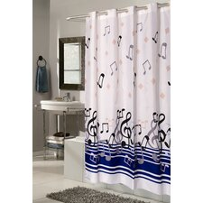 Ez On Note Fabric Shower Curtain