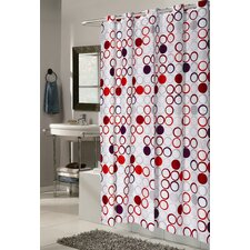 <strong>Carnation Home Fashions</strong> Ez On Bohemia Fabric Shower Curtain