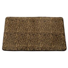 "Animal Instincts ""Leopard"" Faux Fur Bath Mat"