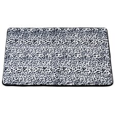 "Animal Instincts ""Snow Leopard"" Faux Fur Bath Mat"