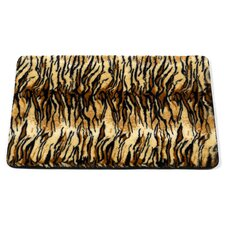 "<strong>Carnation Home Fashions</strong> Animal Instincts ""Tiger"" Faux Fur Bath Mat"