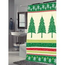"<strong>Carnation Home Fashions</strong> ""Tannembaum"" Polyester Shower Curtain"