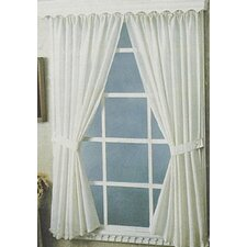 <strong>Carnation Home Fashions</strong> Bathroom Rod Pocket Curtain Panel (Set of 2)