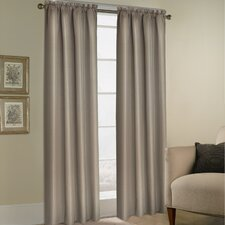 <strong>United Curtain Co.</strong> Bedford Rod Pocket Curtain Single Panel