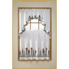 3 Piece Birdhouse Valance and Tier Set