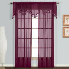 "Monte Carlo Rod Pocket Scalloped 59"" Curtain Valance"