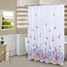 Butterfly Polyester Shower Curtain
