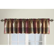 <strong>United Curtain Co.</strong> Plaid Curtain Valance