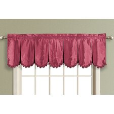 Anna Pleated Rod Pocket Scalloped Curtain Valance
