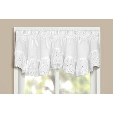 <strong>United Curtain Co.</strong> Vienna Rod Pocket Ruffled Curtain Valance