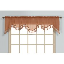 <strong>United Curtain Co.</strong> Monte Carlo Rod Pocket Scalloped Curtain Valance