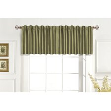 <strong>United Curtain Co.</strong> Dupioni Silk Rod Pocket Tailored Curtain Valance