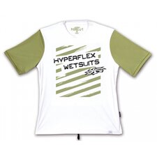 Impact Short Sleeve Water Tee in White / Green