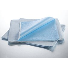 "40"" x 60"" Polybacked Drape Sheet in White / Blue"