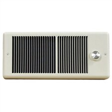 Low Profile Fan Forced Electric Space Heater with Double Pole Thermostat