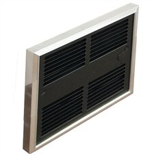 Low Profile Commercial Single Pole 6,826 BTU Fan Forced Electric Wall Space Heater with Wall Box