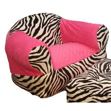Hot Pink Zebra Kid's Club Chair