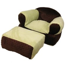 Chocolate Mint Kid's Club Chair