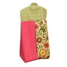 Hot Pink Pinwheel Diaper Stacker