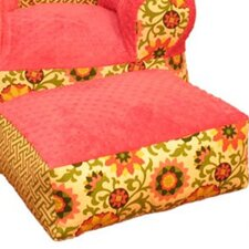 Hot Pink Pinwheel Ottoman