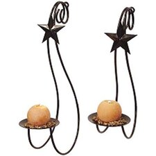 2 Piece Star Steel Sconce Set