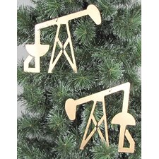 Oil Pump Jack Ornament (Set of 2)