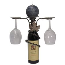 Grapevine Iron Wine Bottle Topper Candle Holder